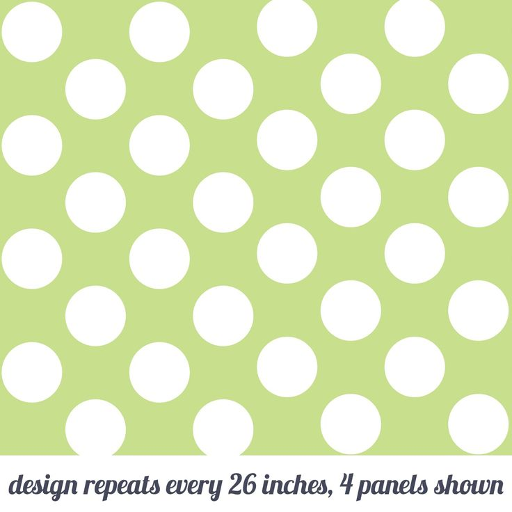 Polka Dot Green Temporary WallPaper WallCandy Arts 736x736