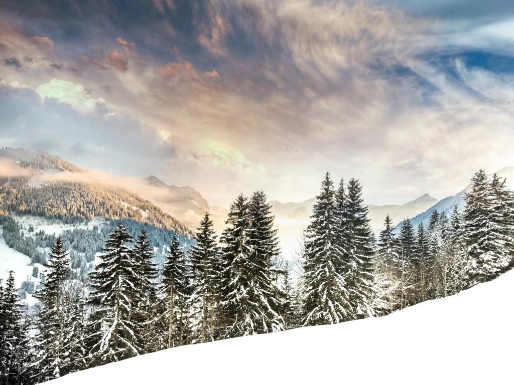 Mount Eggli by Robin Kamp iPad Pro Wallpaper 1024x768
