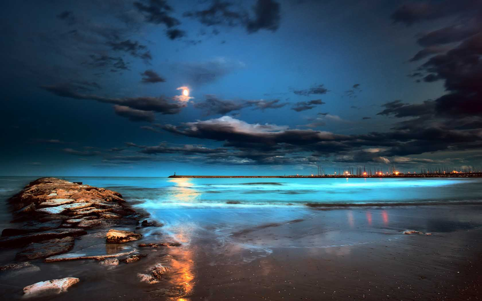 Beach Night HD Wallpapers 1680x1050