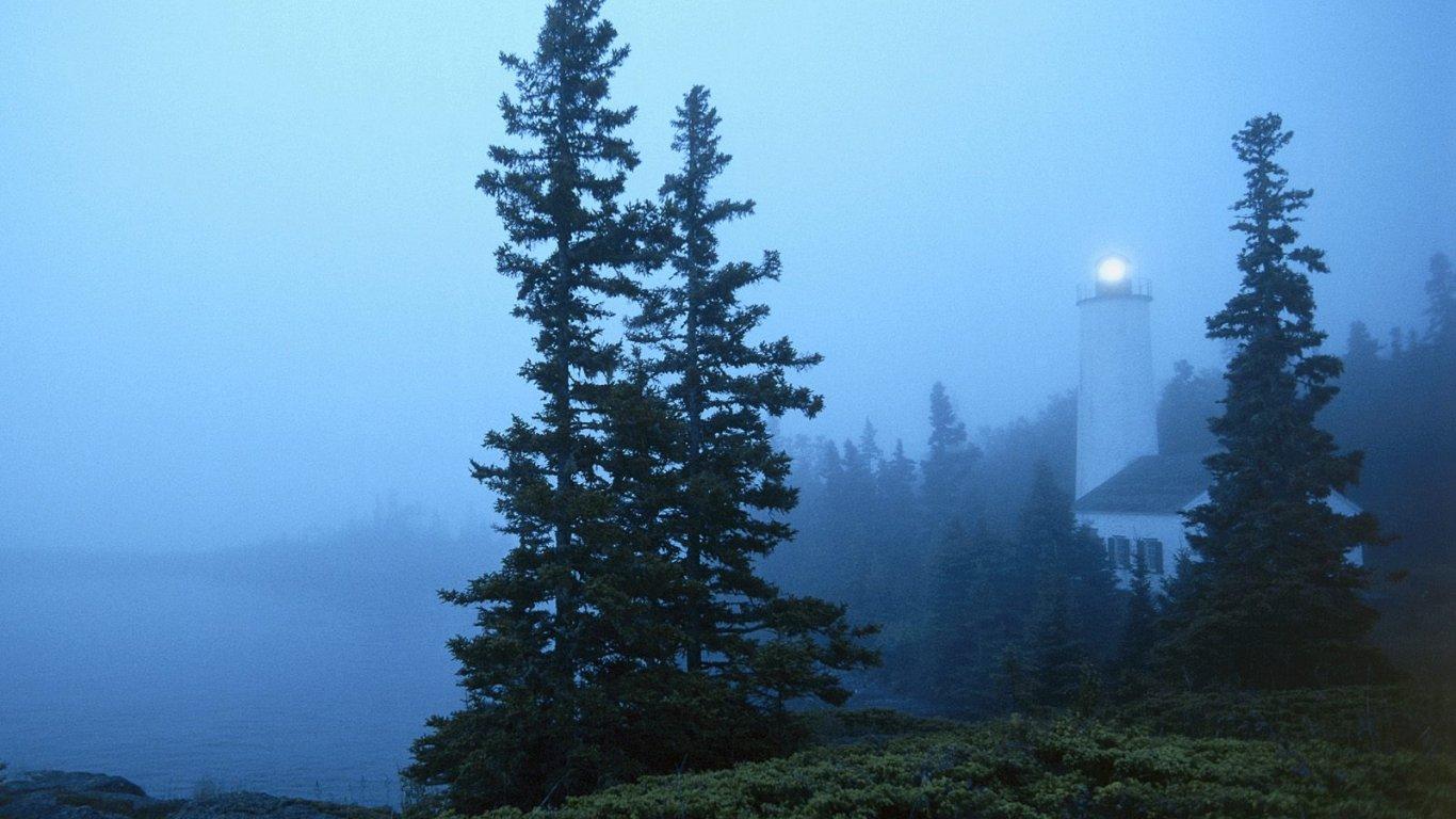 Rock Harbor Lighthouse Isle Royale National Park Michigan Travel 1366x768