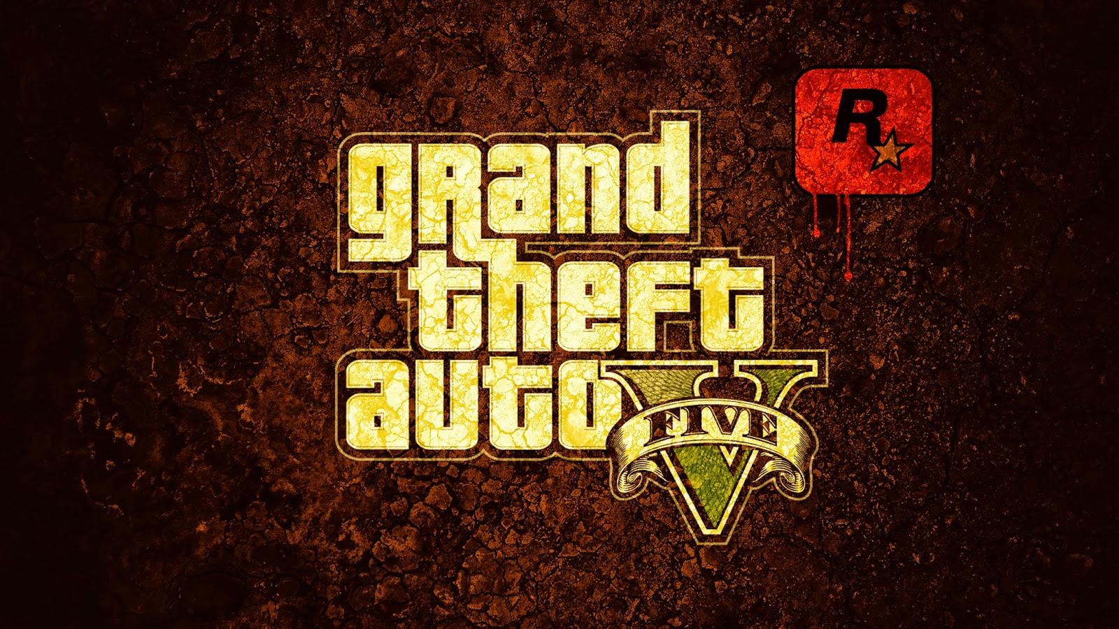 Grand Theft Auto Five Gta Logo Computer Video Game Wallpaper 1600x900