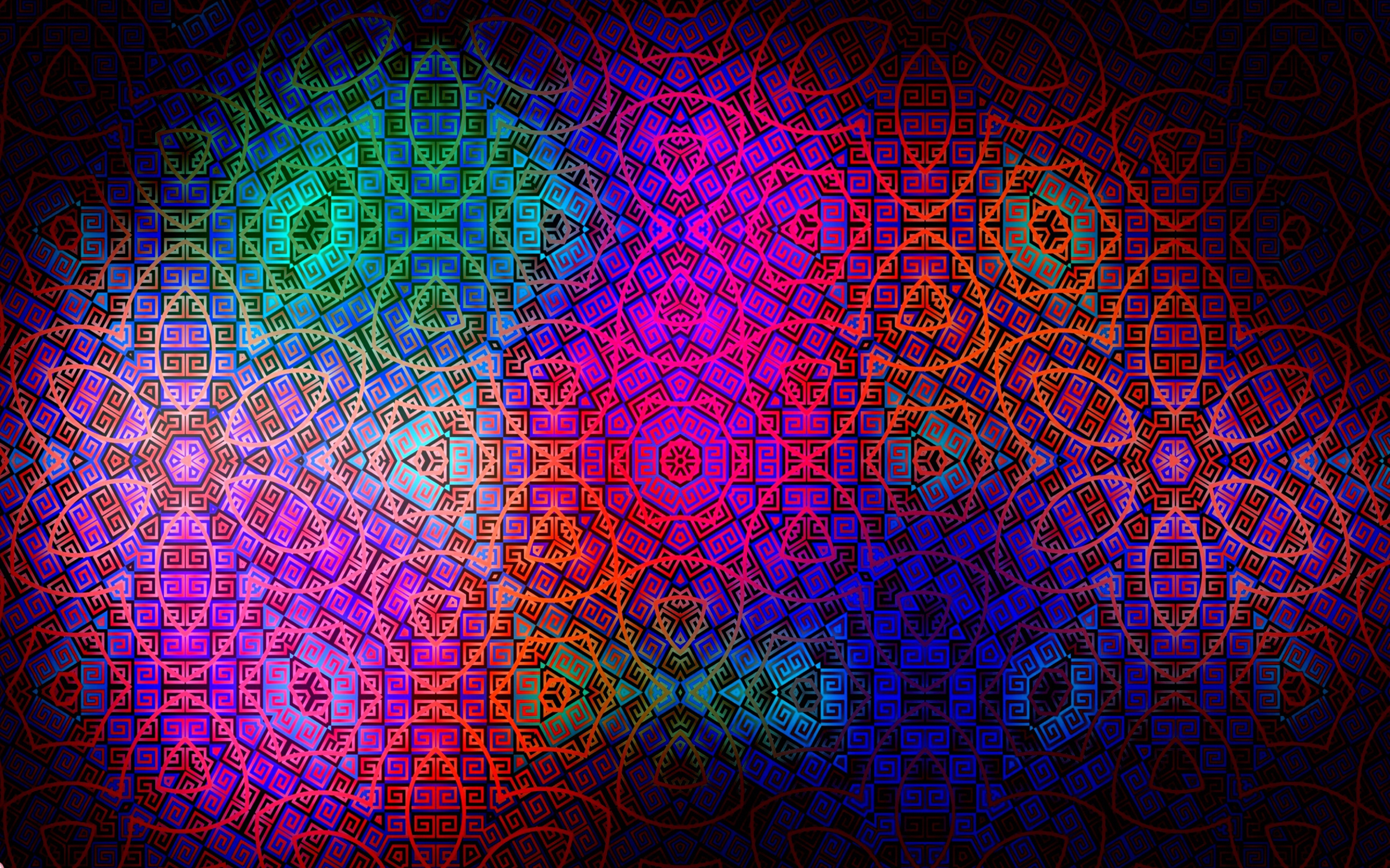 Pattern Color Colorful Dark Wallpaper Background Ultra HD 4K 3840x2400