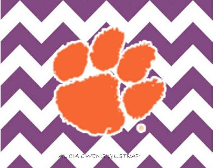 Wallpaper WallpaperSafari Tiger Clemson - Paw