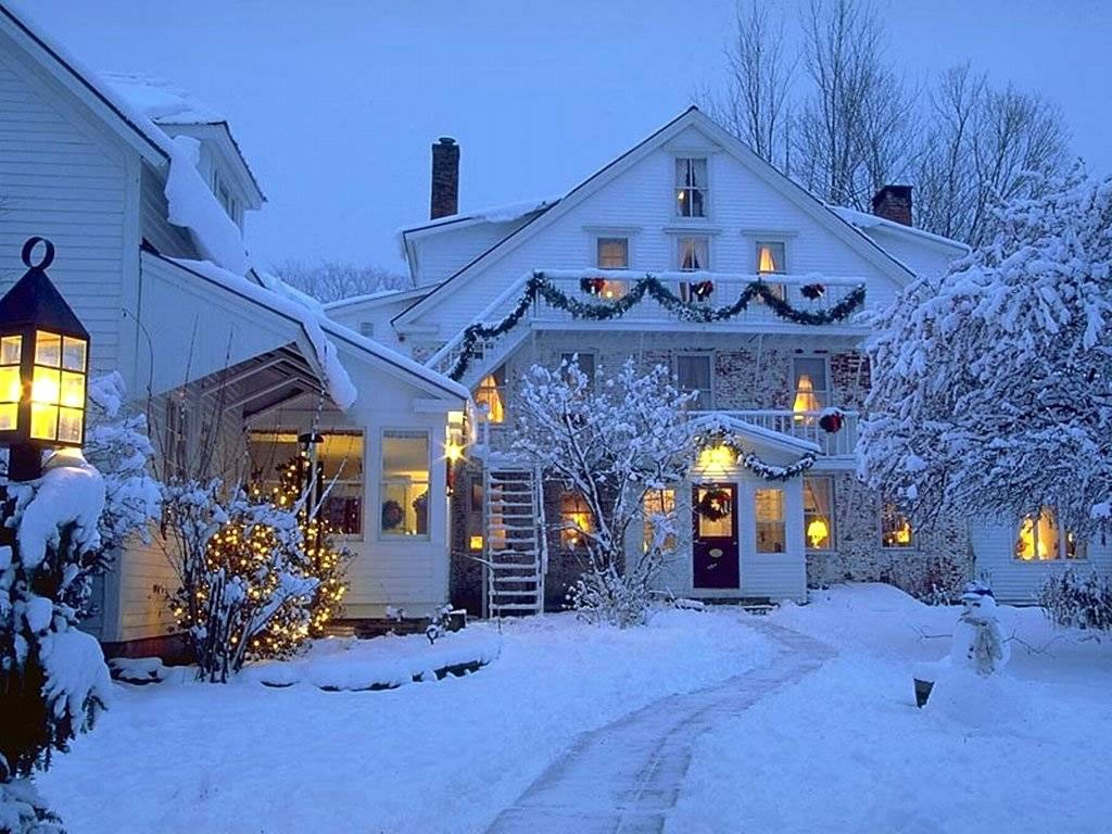 Christmas Wall christmas winter scenes wallpaper image 1024x768