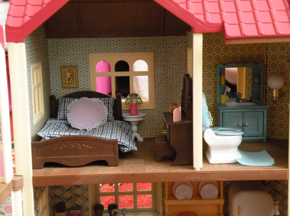Calico Critters Sylvanian Families Luxury Townhouse Custom Wallpaper 1000x744
