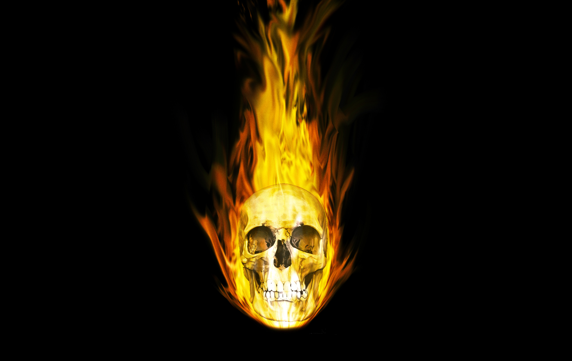 Ghost Rider Skull Wallpaper