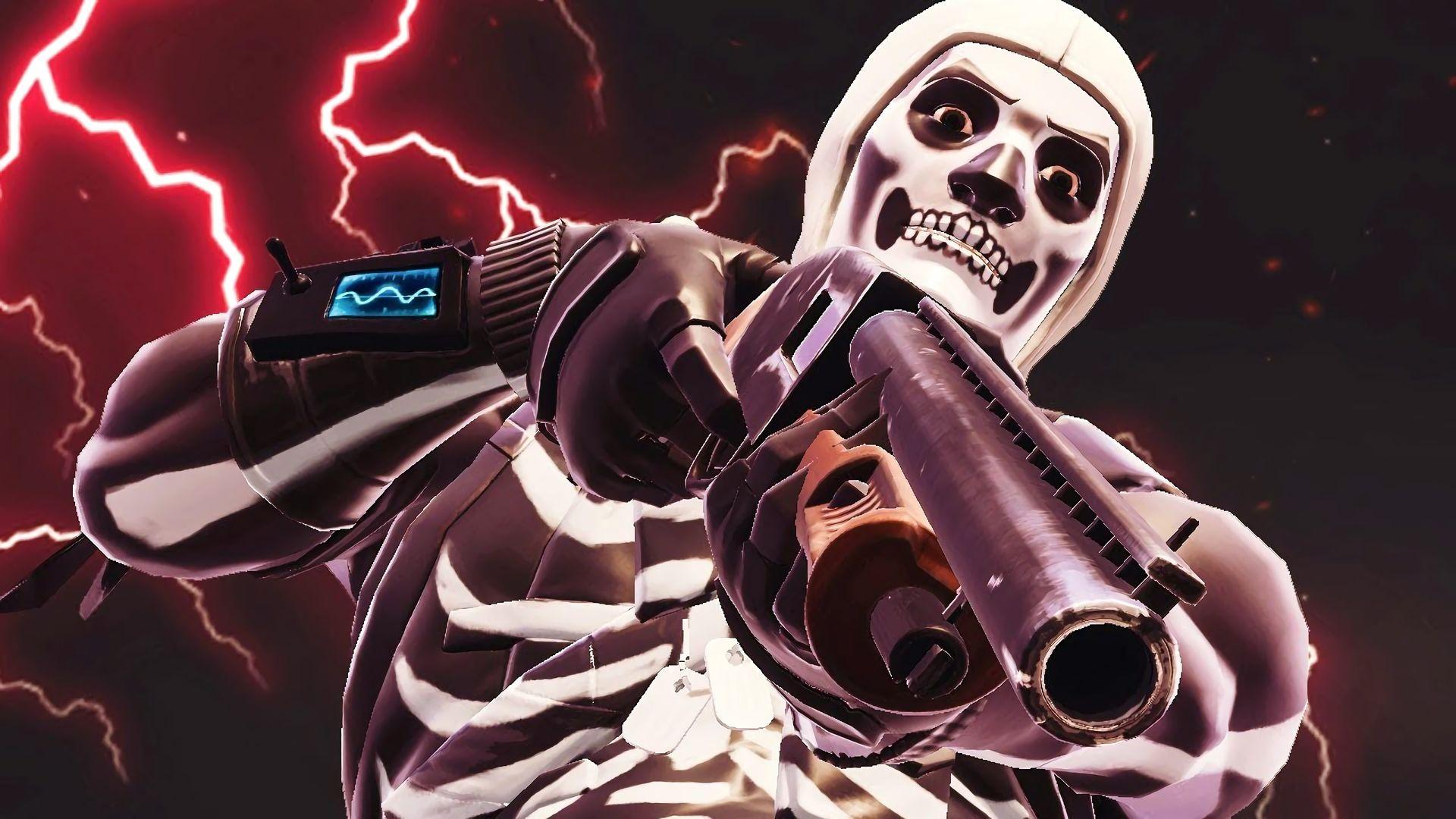 1920x1080 HD Wallpaper of Fortnite Battle Royale Video Game Skull 1920x1080