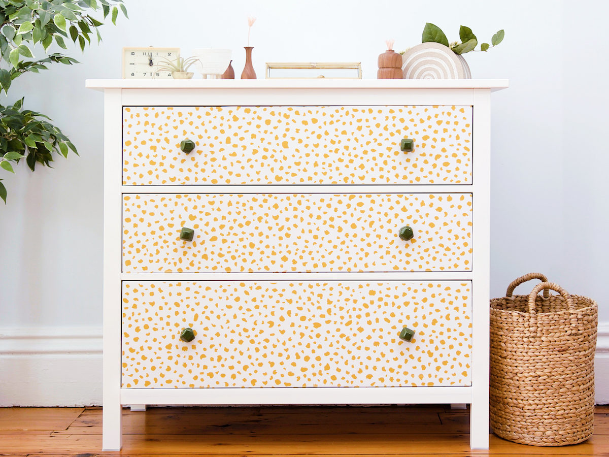 Video How to Refinish a Dresser with Peel and Stick Wallpaper 1200x900