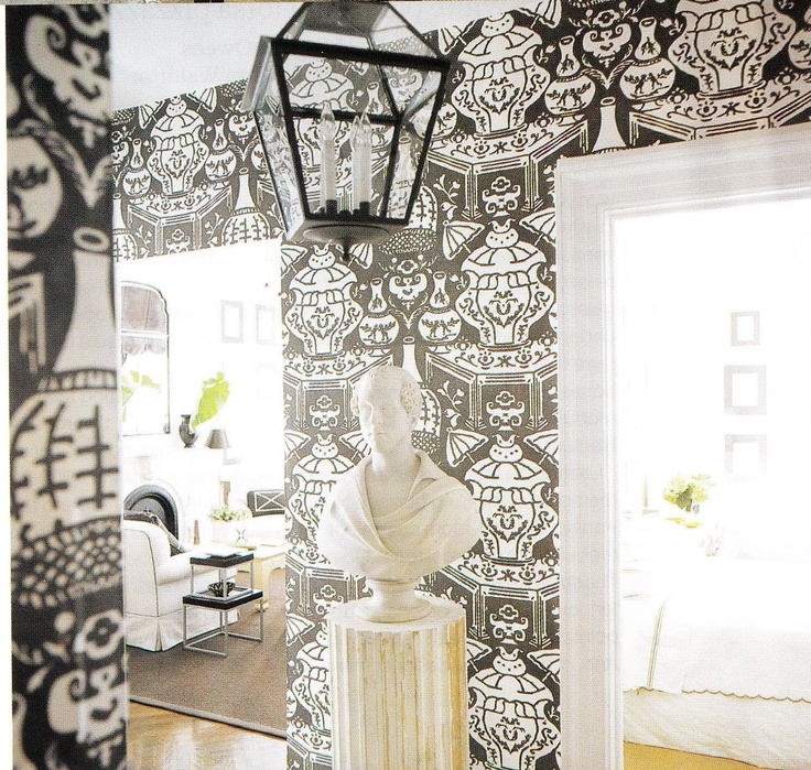 The Vase wallpaper by David Hicks for Clarence House 736x699