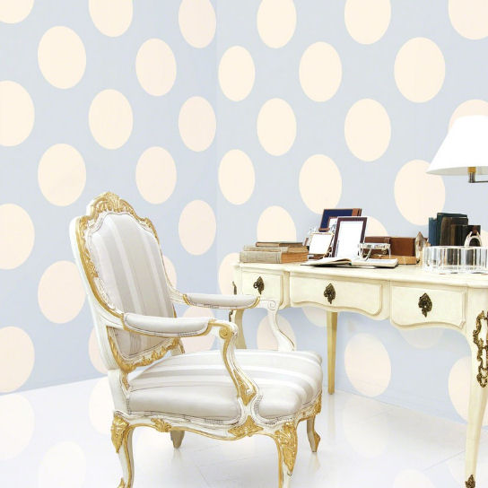 Polka Dot Blue Almond Peel Stick Wallpaper   Wall Sticker Outlet 544x544