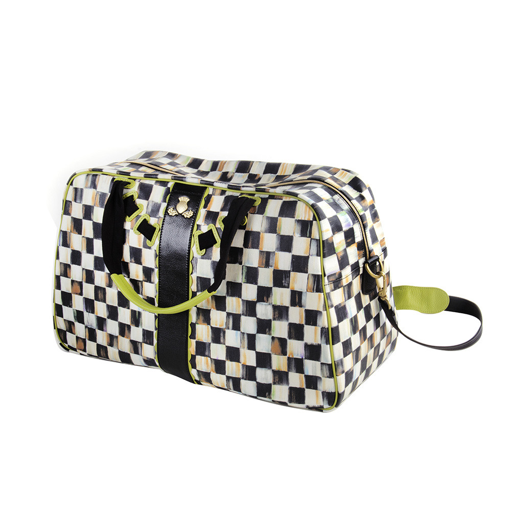 MacKenzie Childs Courtly Check Duffel Bag   Chartreuse at Amara 1000x1000