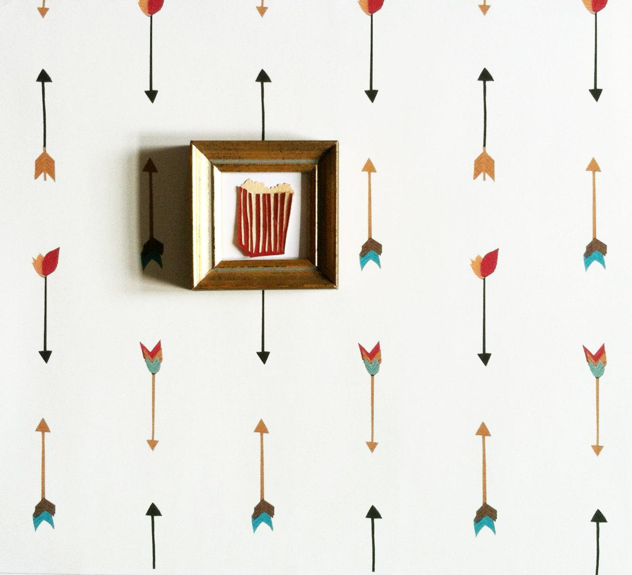 Removable Wallpaper Multi Color Arrow by KateZarembaCompany 1238x1125