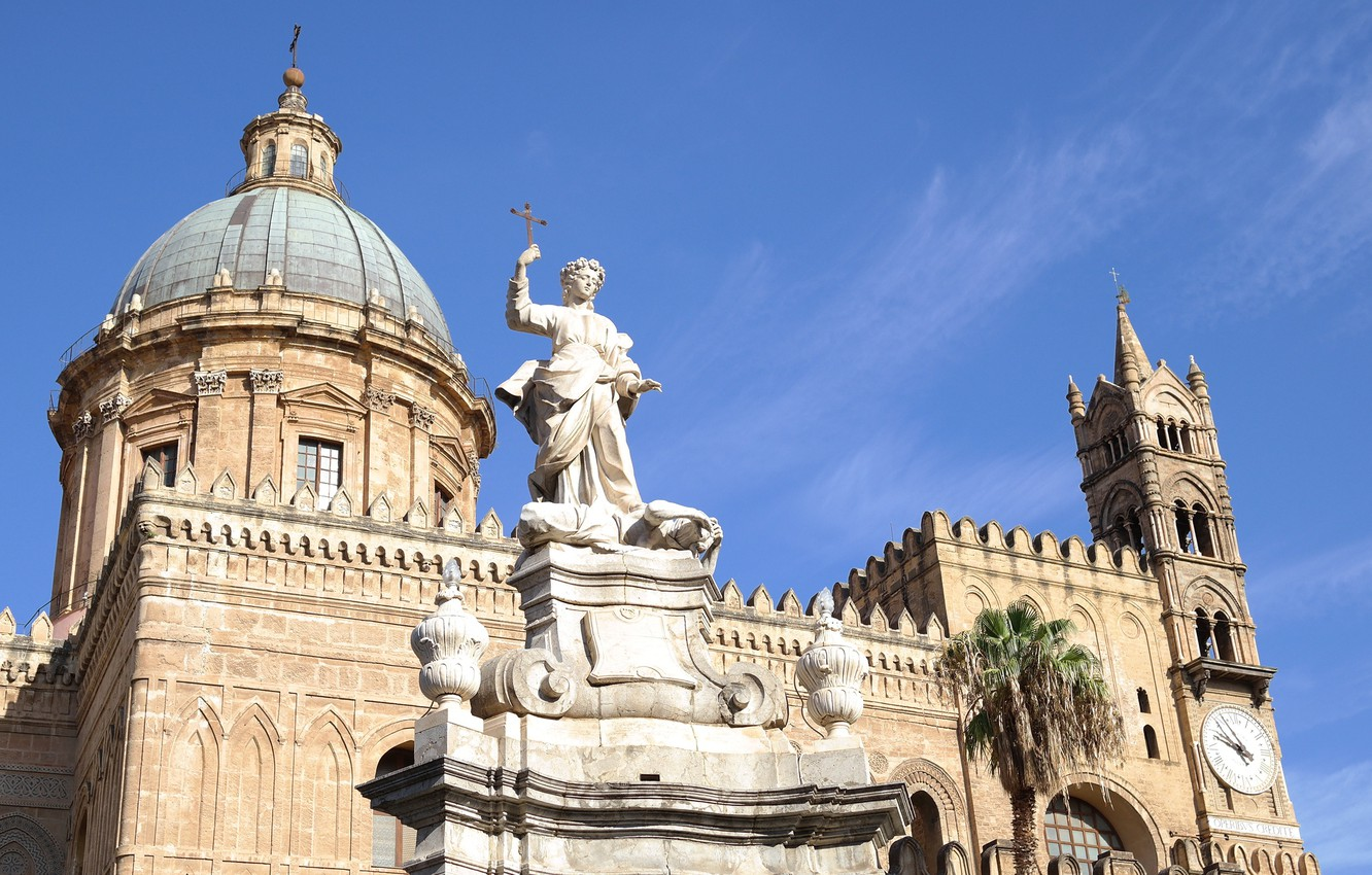 Wallpaper Italy Cathedral Sicily Palermo images for desktop 1332x850
