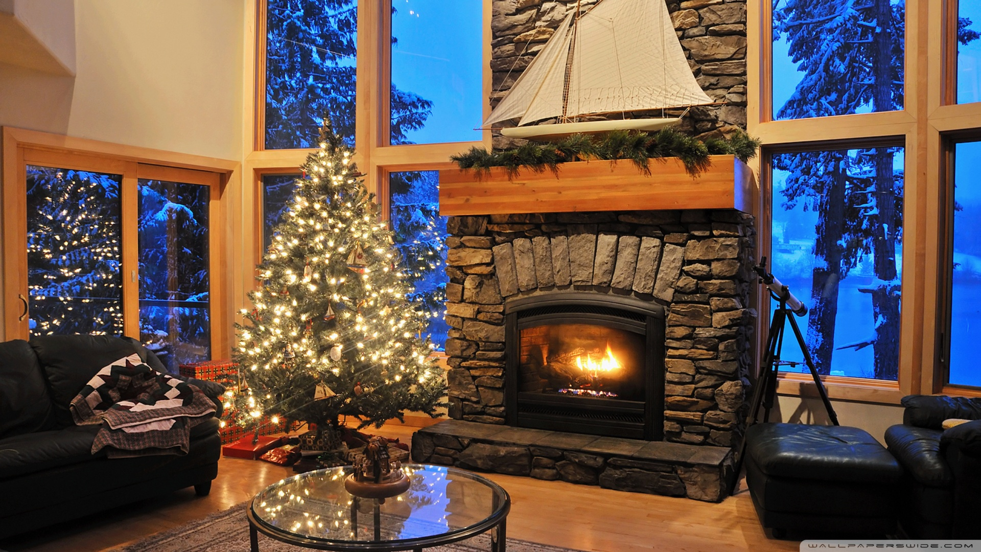 Fireplace Christmas Wallpaper 1920x1080 Fireplace Christmas 1920x1080