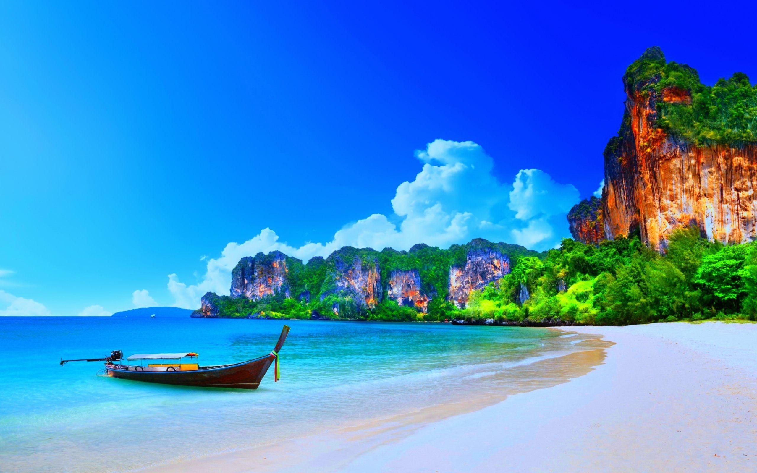 Ao Nang Beach Landscape Thailand Wallpaper HD For Desktop 2560x1600