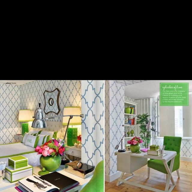 Kelly green trellis wallpaper 640x640