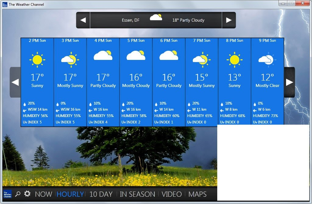 windows 10 weather wallpaper