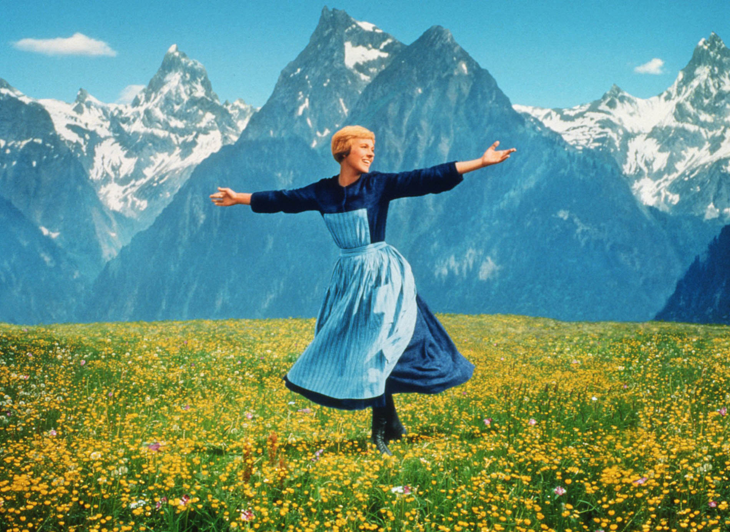 Andrews fills the hills with the sound of music in the 1965 film 1425x1038