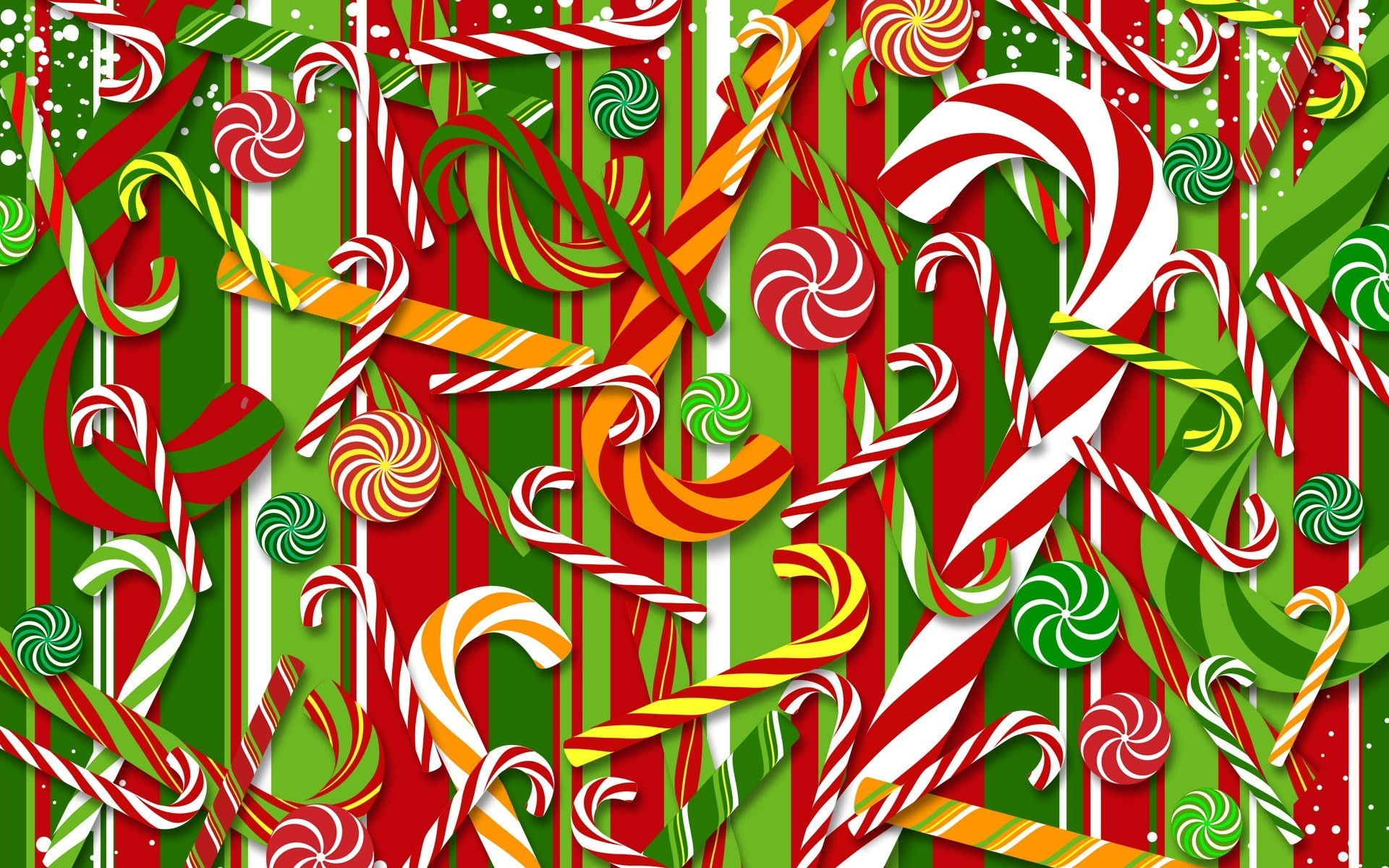 Candy canes wallpaper 8737 1920x1200