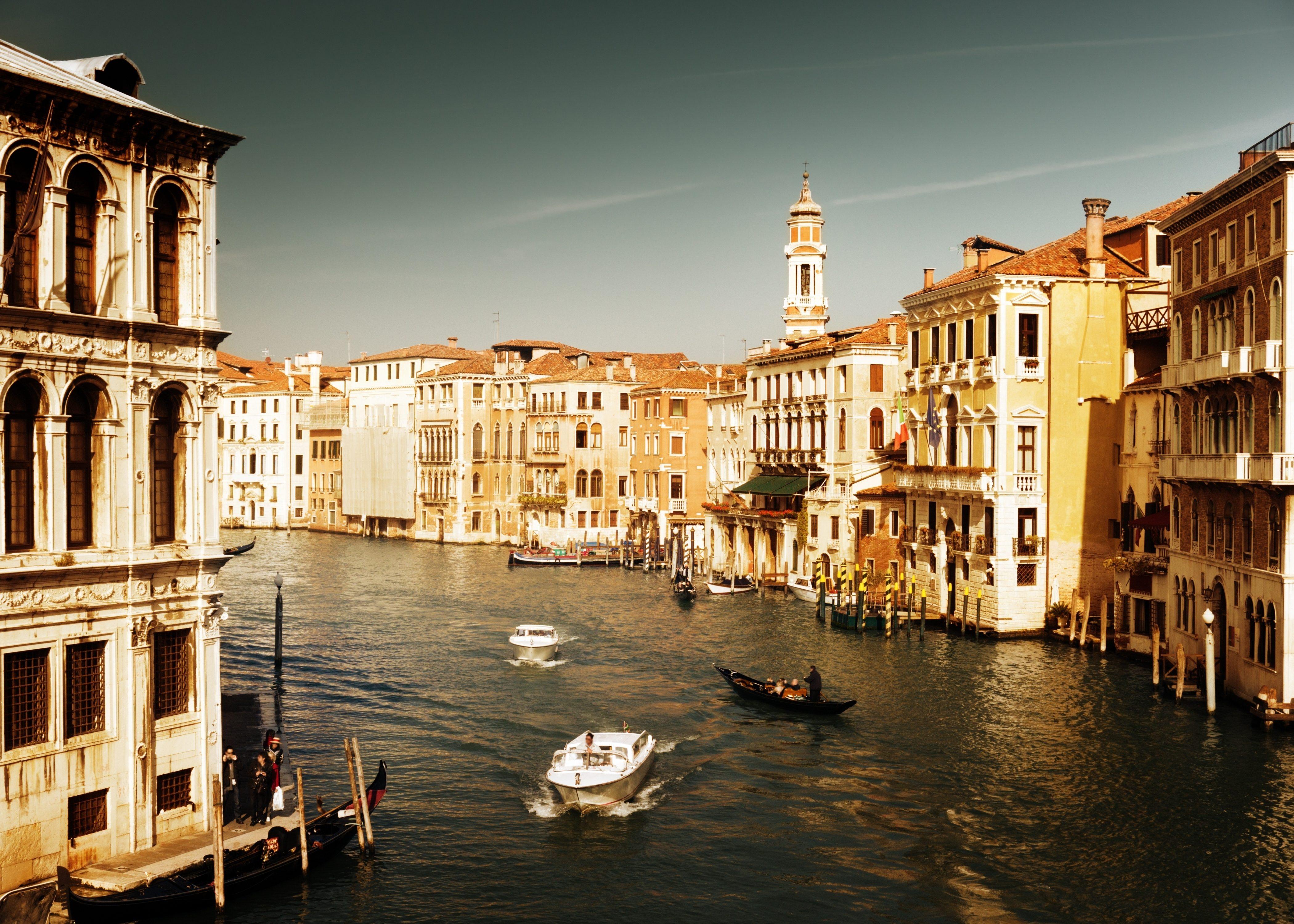 Sunset Over Grand Canal, Venice, Italy  № 1471255 загрузить