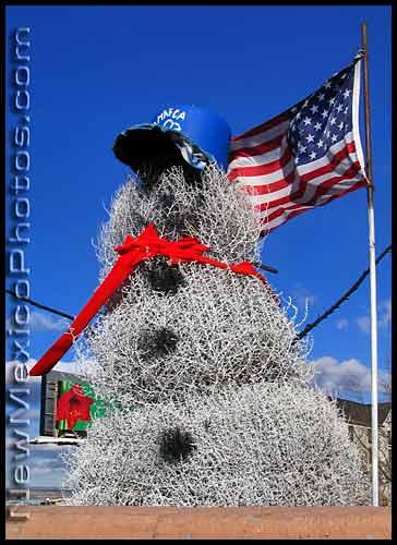 New Mexico PhotoJournal Tumbleweed Snowman 364x500