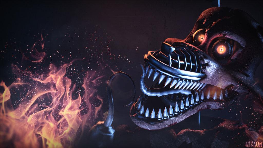 FNAF SFM] Nightmare Foxy Wallpaper 1080p by NiksonX 1024x576