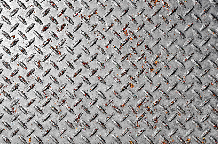 Diamond Plate Background Photograph by Brandon Bourdages 900x597
