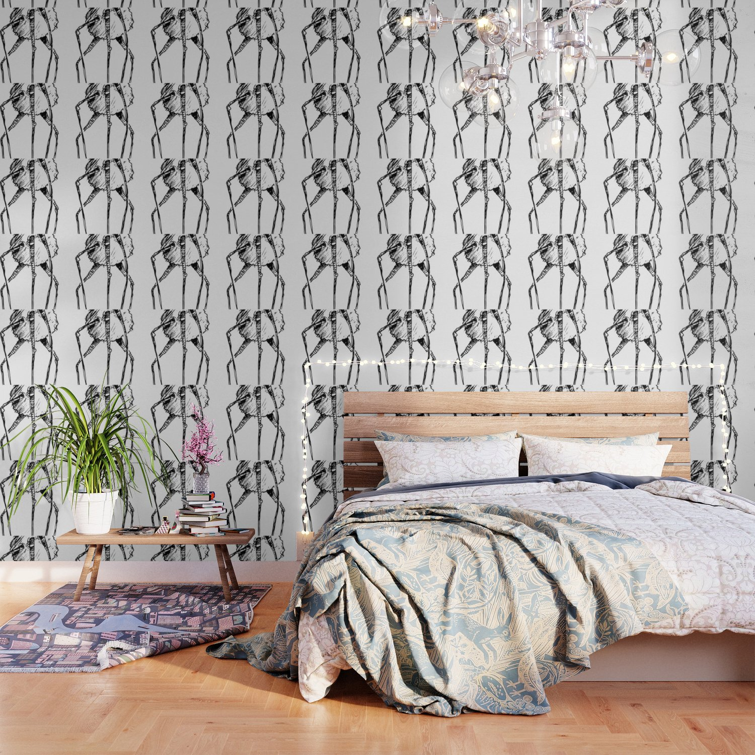 DOODLE FANCY WEIRDO Wallpaper by losthouse Society6 1500x1500