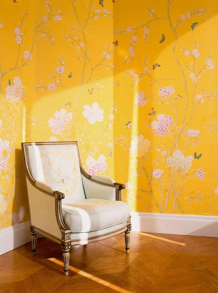 Chinoiserie wallpaper Chelsea design in standard design colours 736x988