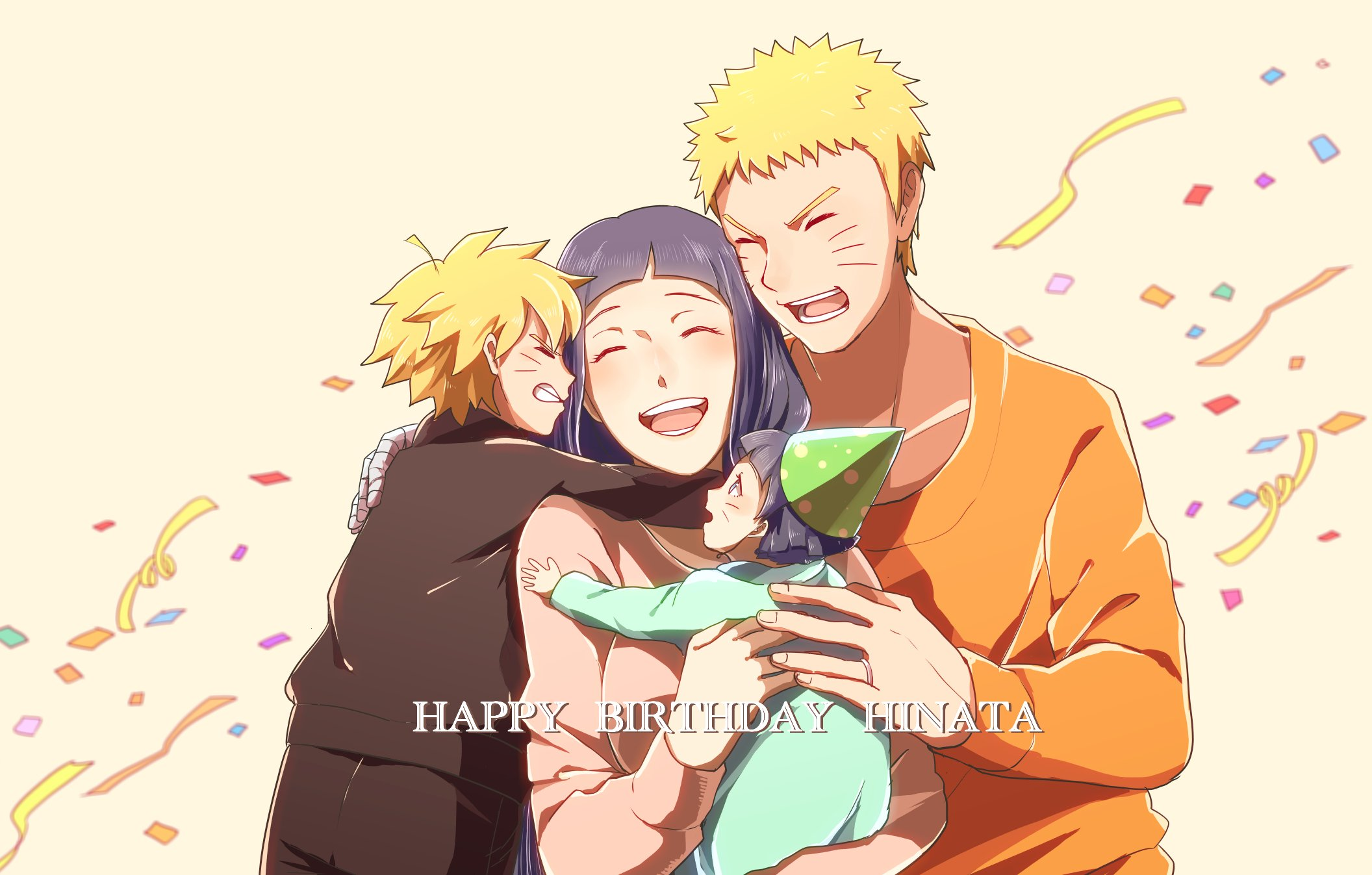 Hyuuga Hinata Uzumaki Boruto Uzumaki Naruto Uzumaki Himawari wallpaper 2112x1347