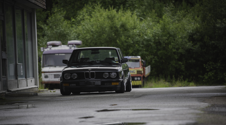 Gray BMW car BMW E28 Stance Stanceworks low HD wallpaper 5760x3202