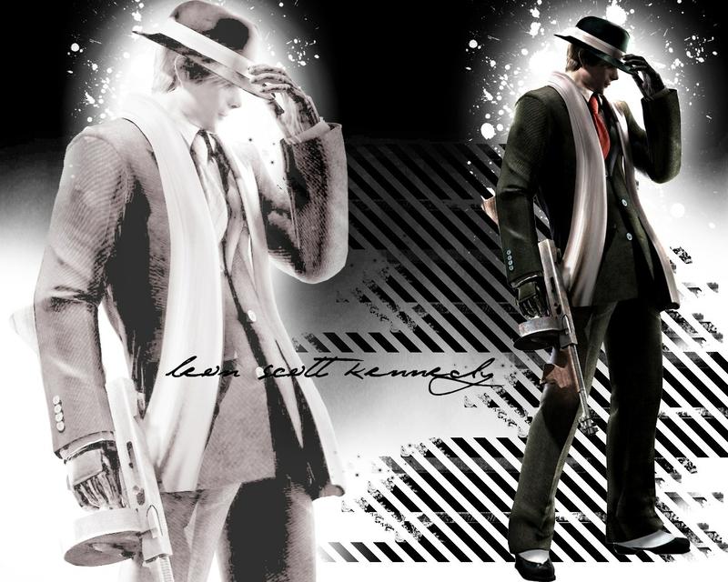 typewriter gangster Resident Evil Leon S Kennedy Gangster Wallpaper 800x640