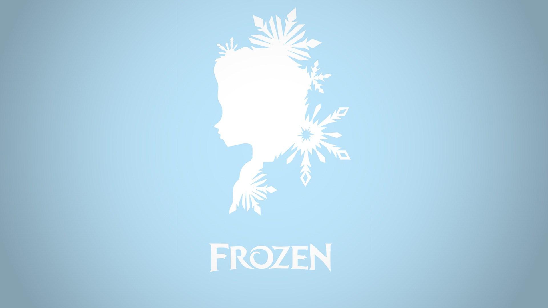 frozen elsa queen ice minimalist wallpaper vector cartoon 1920x1080