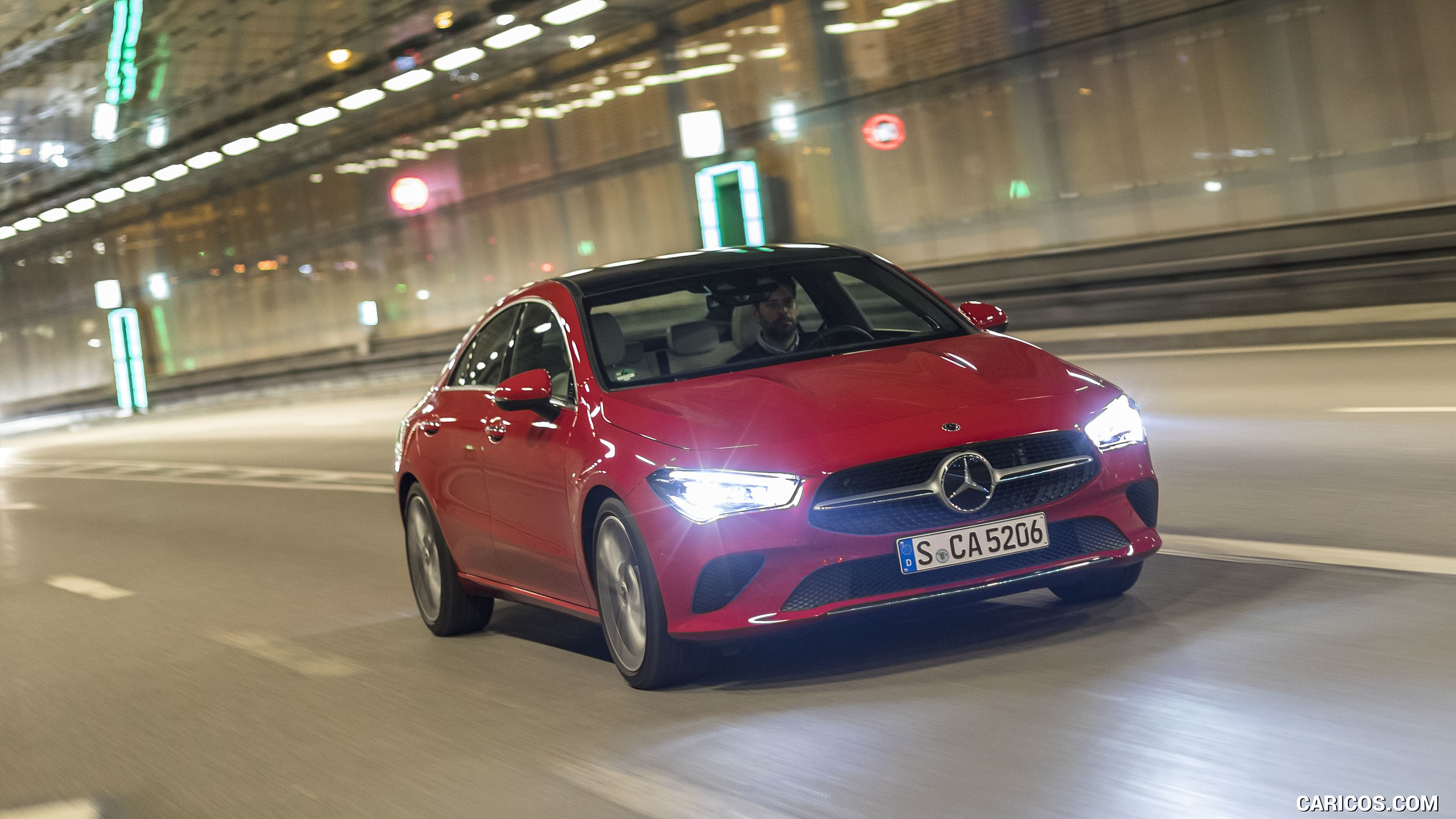 2020 Mercedes Benz CLA 200 Coupe Color Jupiter Red   Front HD 2560x1440