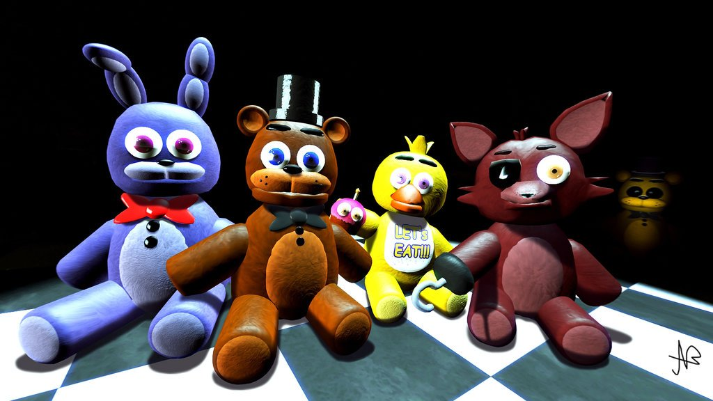 FNaF Plushies Set by Frimbobbar 1024x576
