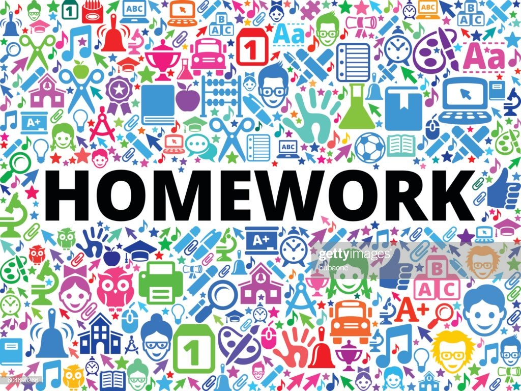 Homework School And Education Vector Icon Background High Res 1024x768