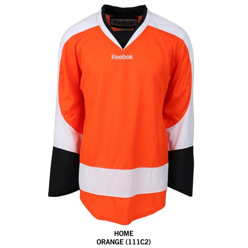 Philadelphia Flyers Reebok Edge Gamewear Uncrested Adult Hockey Jersey 800x800