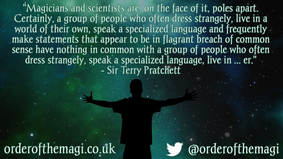 Order of The Magi on Twitter Sir Terry Pratchetts view of 1200x675