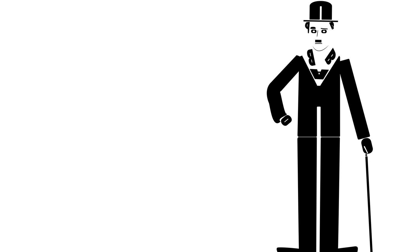 Wallpaper Comedian Adobe Illustrator Charlie Chaplin 1332x850