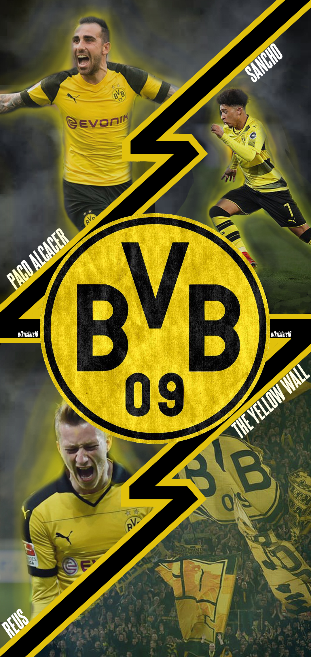 Made this Borussia Dortmund phone background let me know what you 1080x2280