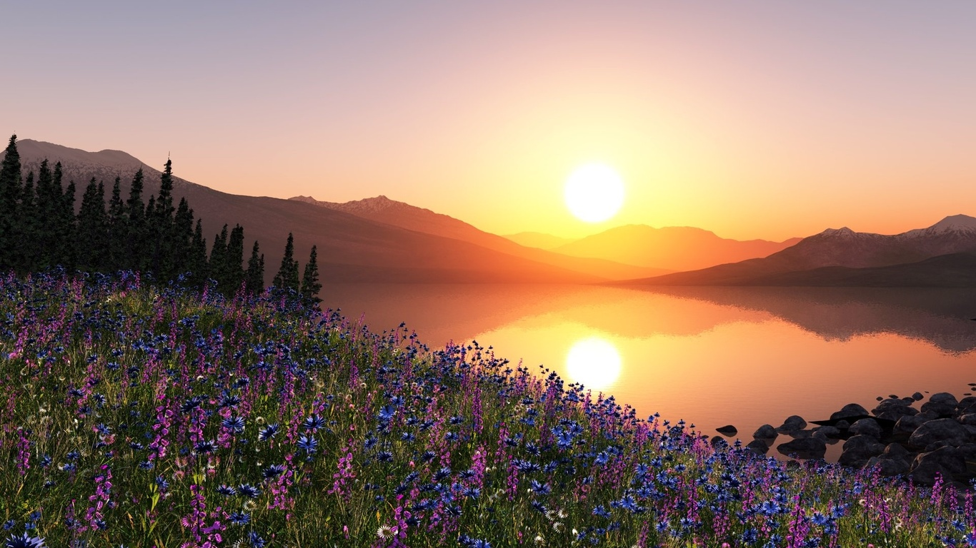 Beautiful Sunrise Wallpaper ForWallpapercom 1366x768