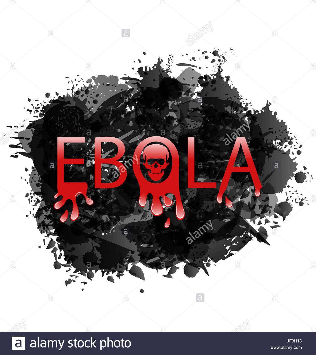 Illustration warning epidemic Ebola virus grunge background Stock 1235x1390