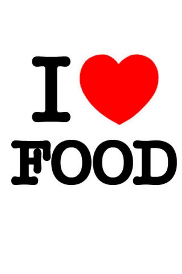 I Love Food iPhone Wallpaper HD 640x960