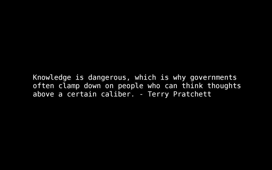 Quotes terry pratchett knowledge wallpaper 1920x1200 8560 1120x700