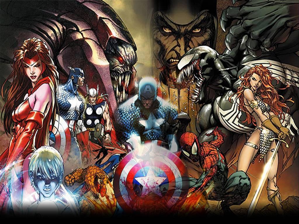 Best marvel wallpapers wallpapersafari - All marvel heroes wallpaper ...