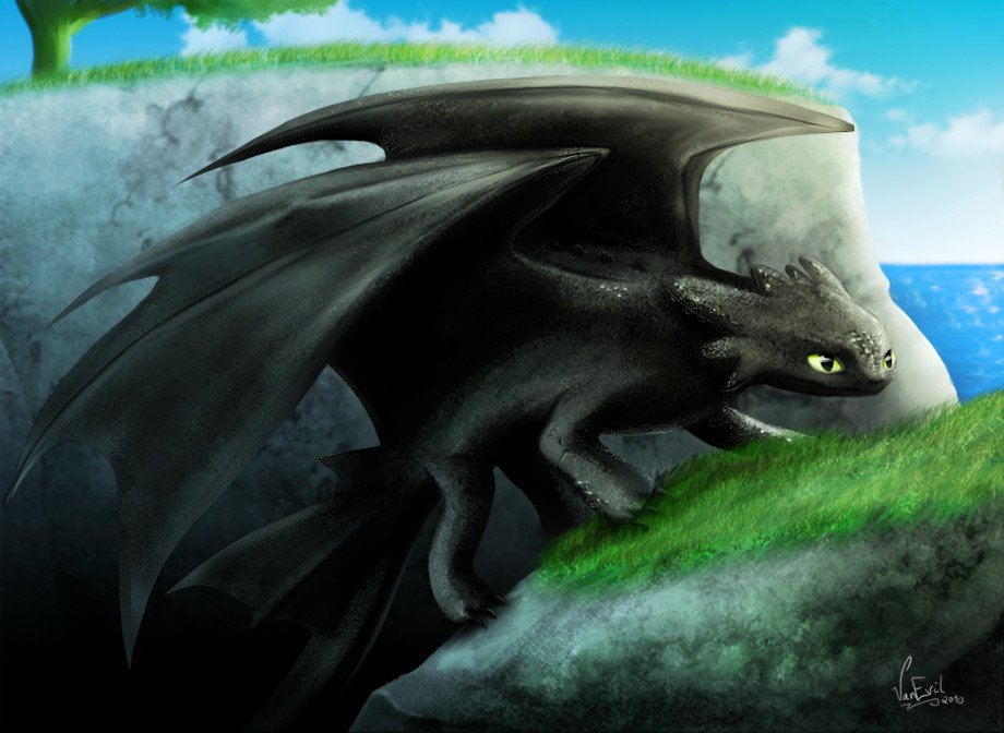 Toothless the Night Fury by VanEvil 920x672