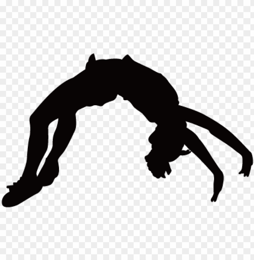 cheerleading stunts silhouette at getdrawings   tumbling clipart 840x859