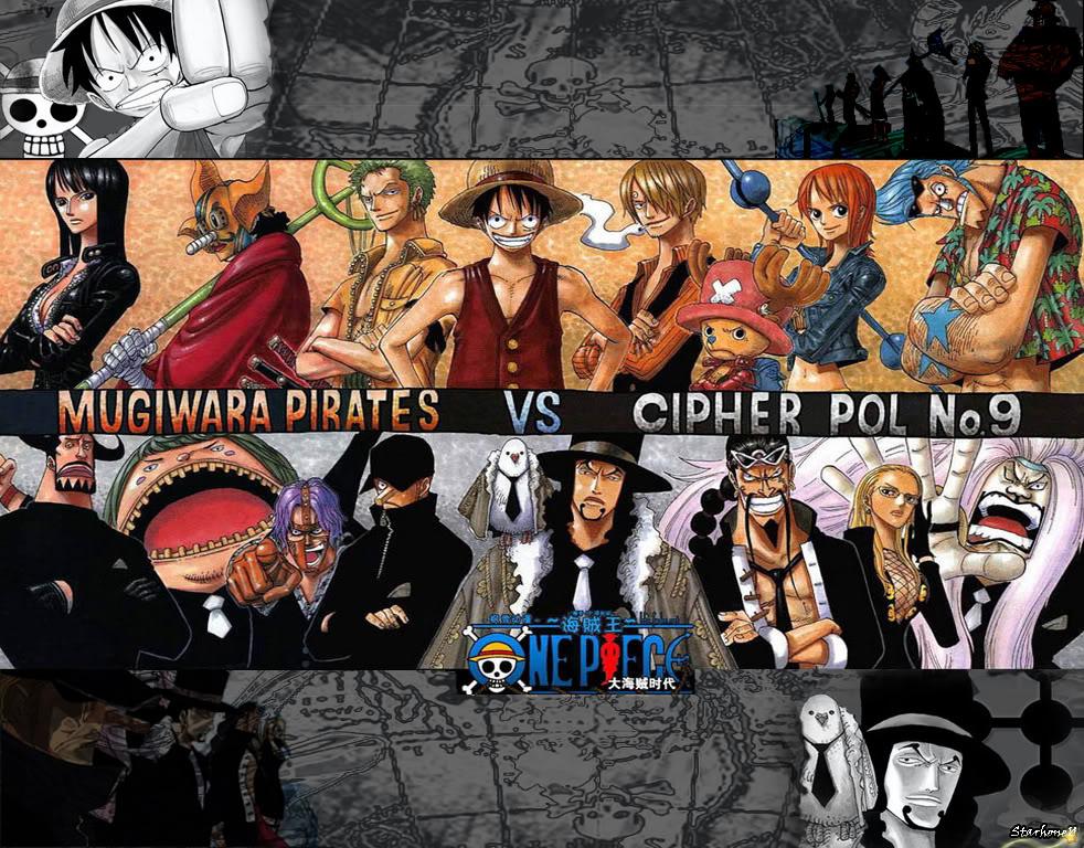 One Piece Wallpaper Mugiwara Pirates VS CP9   One Piece Wallpaper 982x768