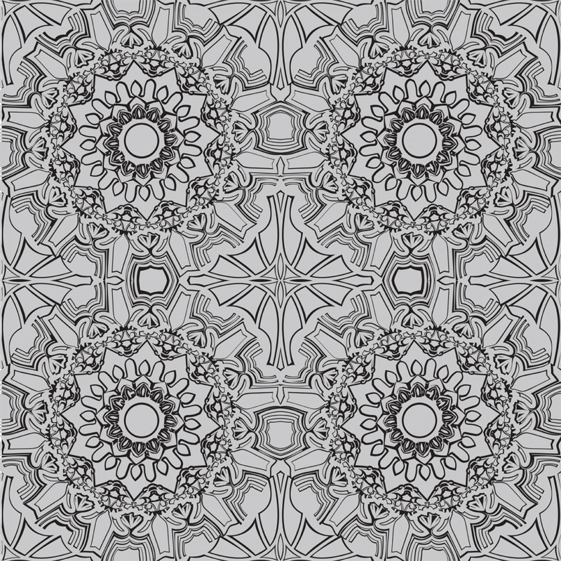 Medallion Platinum Removable Wallpaper 800x800