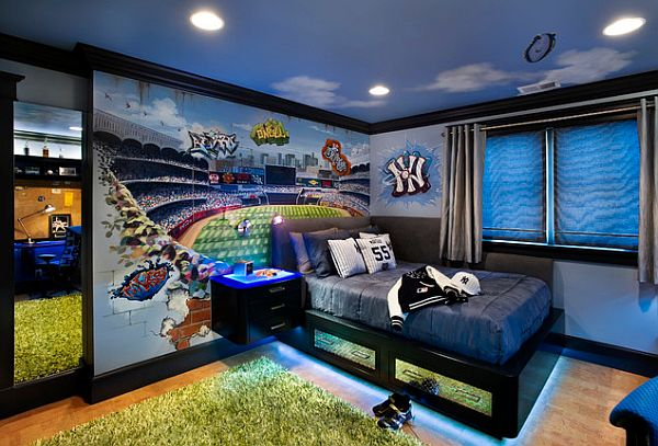 Cool Boys Room Paint Ideas For Colorful And Brilliant Interiors 600x407